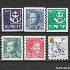 Sellos: SUECIA 1986 ** NUEVO SERIE BASICA - 5/48. Lote 168390808