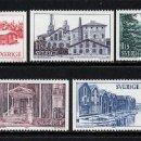 Sellos: SUECIA 1090/94** - AÑO 1980 - TURISMO - PROVINCIA DE HALSINGLAND. Lote 168485200