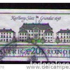 Sellos: SUECIA 1992 - PALACIO DE KARLBERG - YVERT Nº 1707 USADO. Lote 171492377