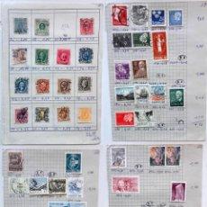 Sellos: SUECIA 4 PÁGINAS DE ÁLBUM DE SELLOS ANTIGUOS, VER IMÁGENES, 57 SELLOS, SVERIGE. Lote 177309753