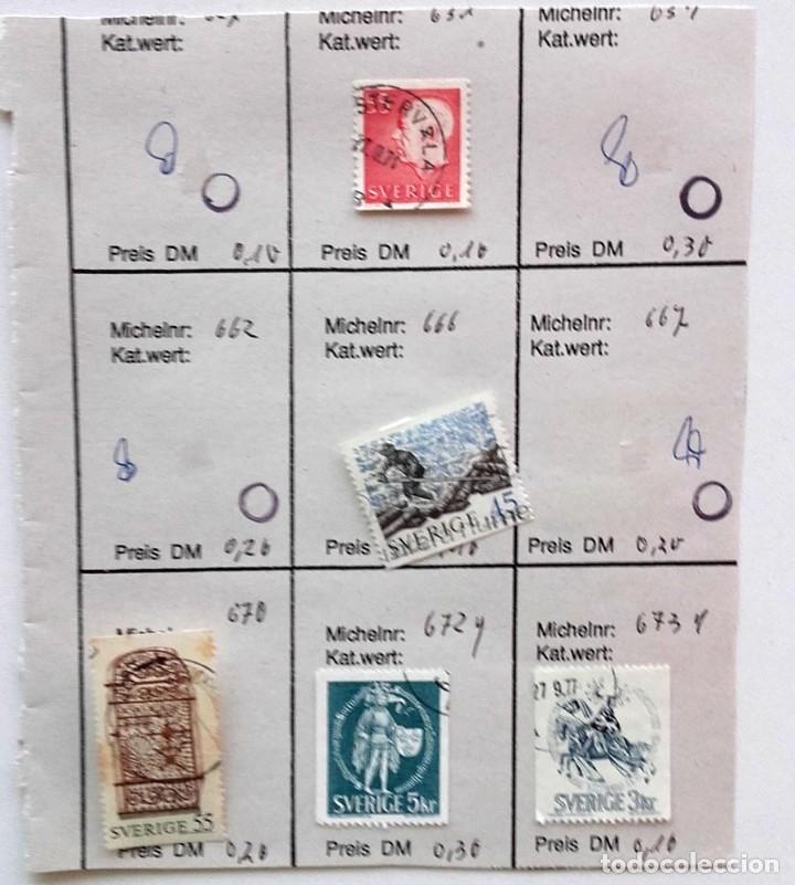 Sellos: Suecia 8 páginas de álbum de sellos antiguos, las de la imágenes, 71 sellos, Sverige - Foto 2 - 177311113