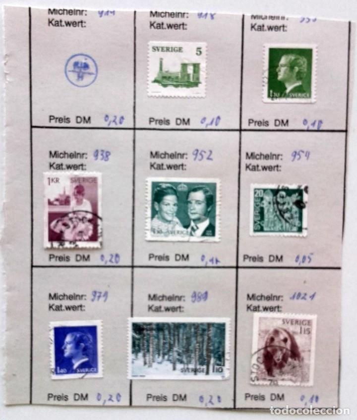 Sellos: Suecia 8 páginas de álbum de sellos antiguos, las de la imágenes, 71 sellos, Sverige - Foto 4 - 177311113