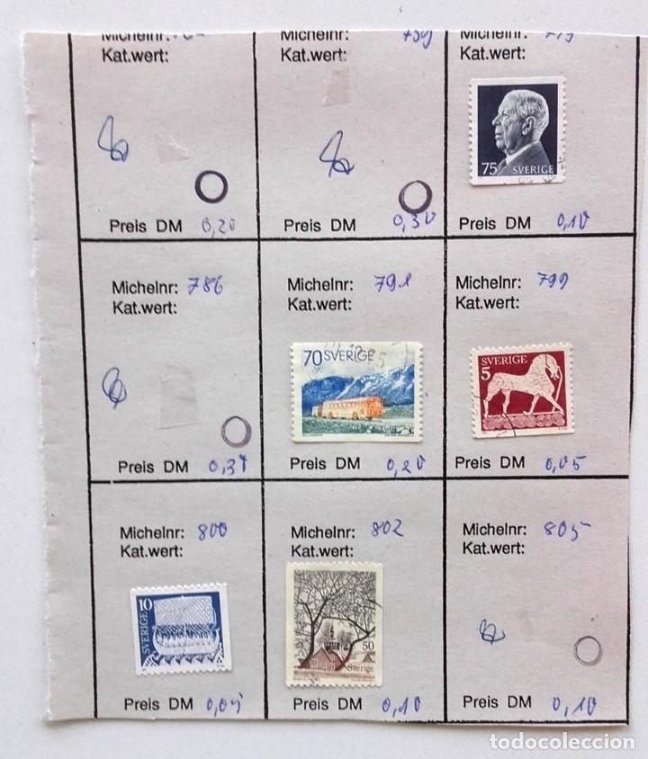 Sellos: Suecia 8 páginas de álbum de sellos antiguos, las de la imágenes, 71 sellos, Sverige - Foto 5 - 177311113