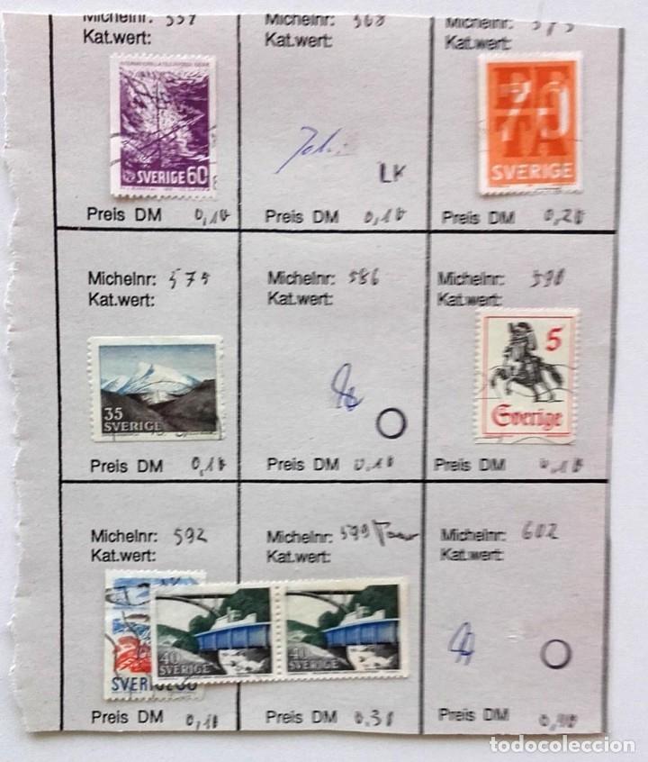 Sellos: Suecia 8 páginas de álbum de sellos antiguos, las de la imágenes, 71 sellos, Sverige - Foto 6 - 177311113