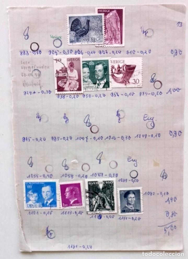 Sellos: Suecia 8 páginas de álbum de sellos antiguos, las de la imágenes, 71 sellos, Sverige - Foto 8 - 177311113