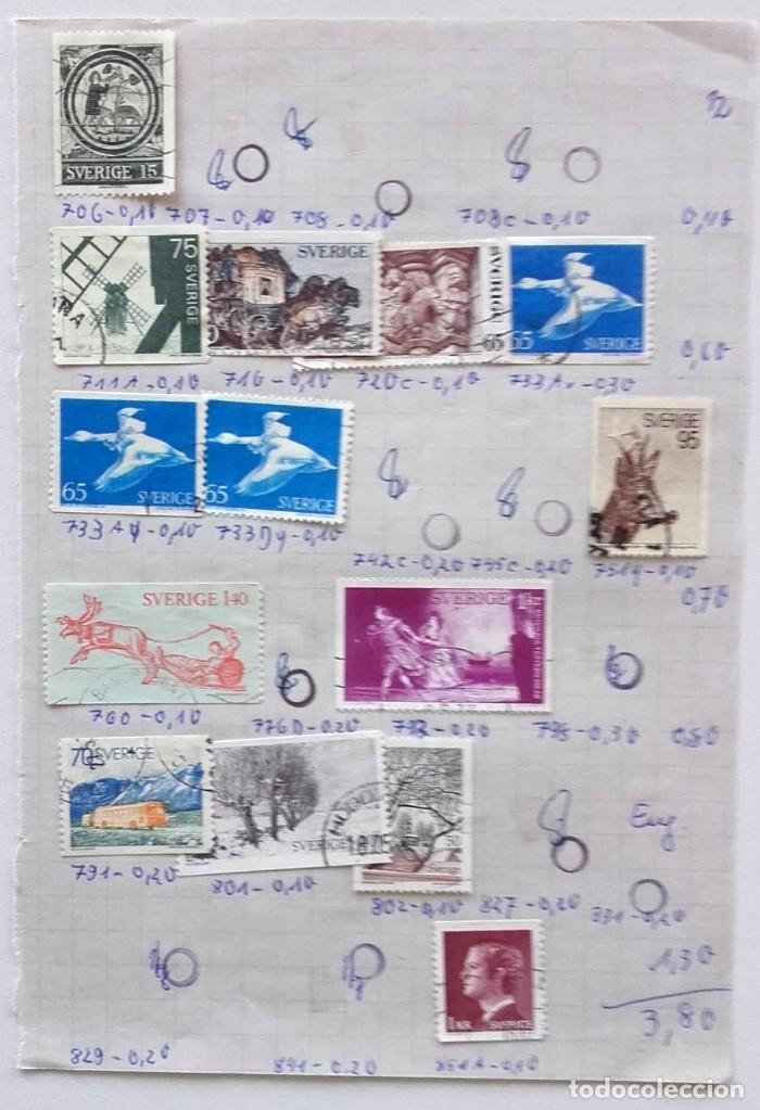 Sellos: Suecia 9 páginas de álbum de sellos antiguos, las de la imágenes, 105 sellos, Sverige - Foto 6 - 177313015