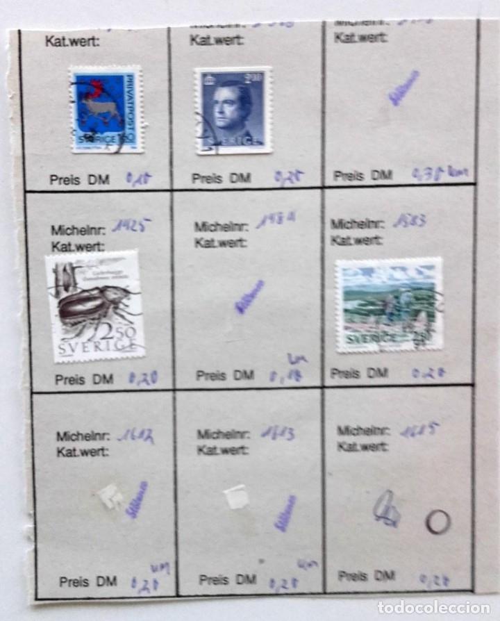 Sellos: Suecia 9 páginas de álbum de sellos antiguos, las de la imágenes, 105 sellos, Sverige - Foto 7 - 177313015