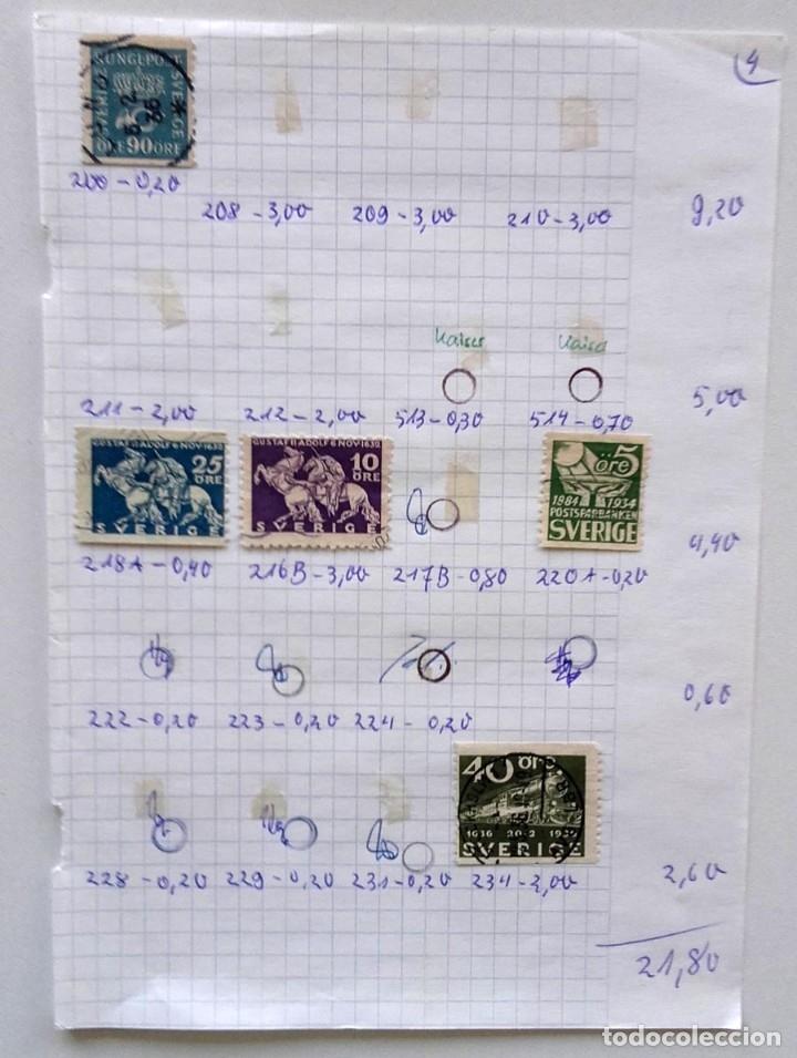 Sellos: Suecia 9 páginas de álbum de sellos antiguos, las de la imágenes, 105 sellos, Sverige - Foto 8 - 177313015