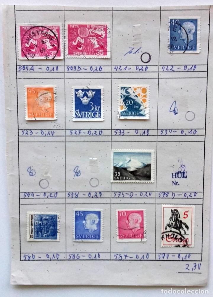 Sellos: Suecia 9 páginas de álbum de sellos antiguos, las de la imágenes, 105 sellos, Sverige - Foto 9 - 177313015