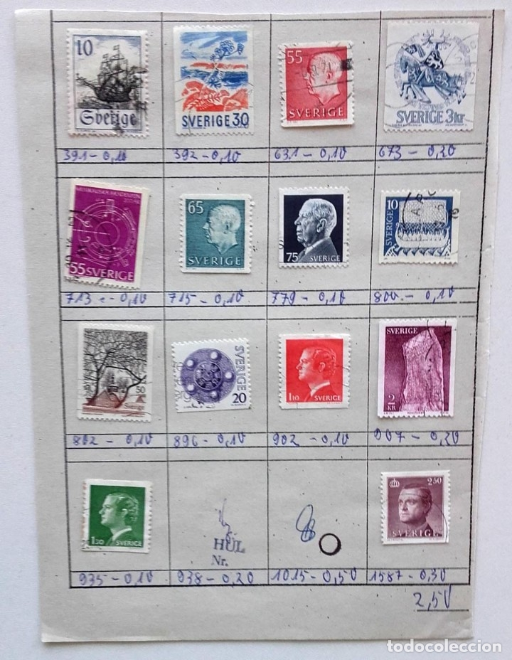 Sellos: Suecia 9 páginas de álbum de sellos antiguos, las de la imágenes, 105 sellos, Sverige - Foto 10 - 177313015