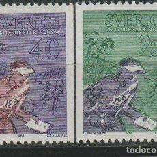 Sellos: LOTE B SELLOS SUECIA NUEVOS AÑO 1968 SERIE COMPLETA. Lote 177467963