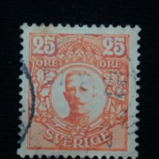 Sellos: SUECIA, SVERIGE 25 ORE, REY GUSTAV, V. AÑO 1911. SIN USAR. Lote 178376487
