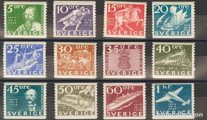 SUECIA. MH *YV 235/46. 1936. SERIE COMPLETA. MAGNIFICA. YVERT 2013: 160 EUROS. REF: 51756 (Sellos - Extranjero - Europa - Suecia)