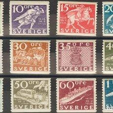 Sellos: SUECIA. MH *YV 235/46. 1936. SERIE COMPLETA. MAGNIFICA. YVERT 2013: 160 EUROS. REF: 51756. Lote 183131812