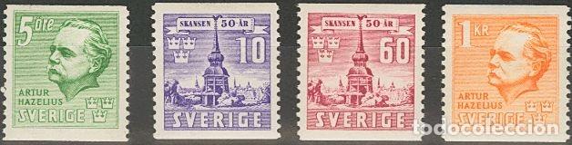 SUECIA. MH *YV 283/86. 1941. SERIE COMPLETA. MAGNIFICA. YVERT 2013: 30 EUROS. REF: 51770 (Sellos - Extranjero - Europa - Suecia)