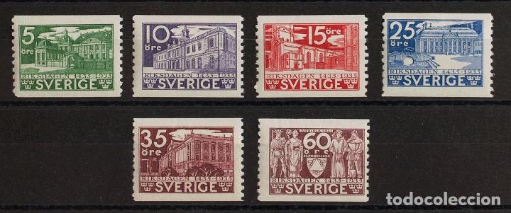 SUECIA. MH *YV 229/34. 1935. SERIE COMPLETA. MAGNIFICA. YVERT 2016: 65 EUROS. REF: 73280 (Sellos - Extranjero - Europa - Suecia)