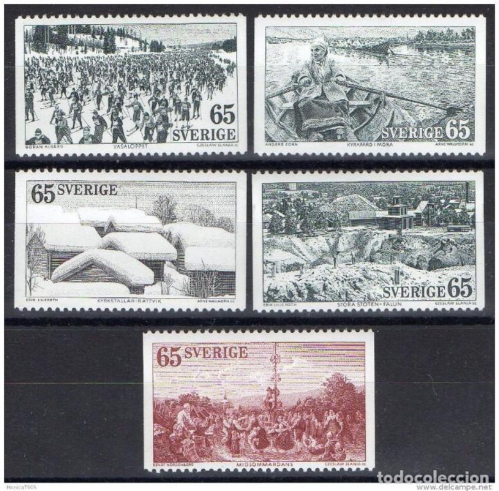 SELLOS USADOS DE SUECIA, YT 773/ 77 (Sellos - Extranjero - Europa - Suecia)