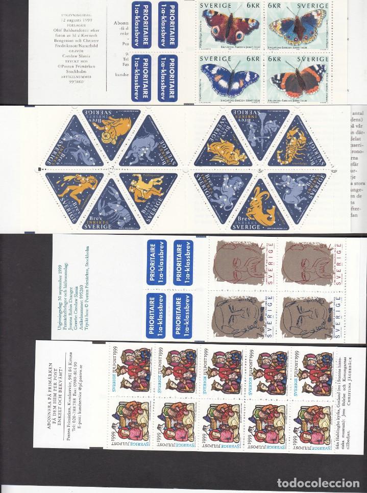 Sellos: SUECIA - AÑO COMPLETO 1999 EN NUEVO - VALOR CAT. YVERT 2001 - 288,60E. VER FOTOS ADICIONALES - Foto 4 - 184361415