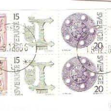 Sellos: SUECIA,1975 SE-TENANT,YT 873/876,SIN GOMA,USADOS,SIN FIJASELLOS.. Lote 186387232