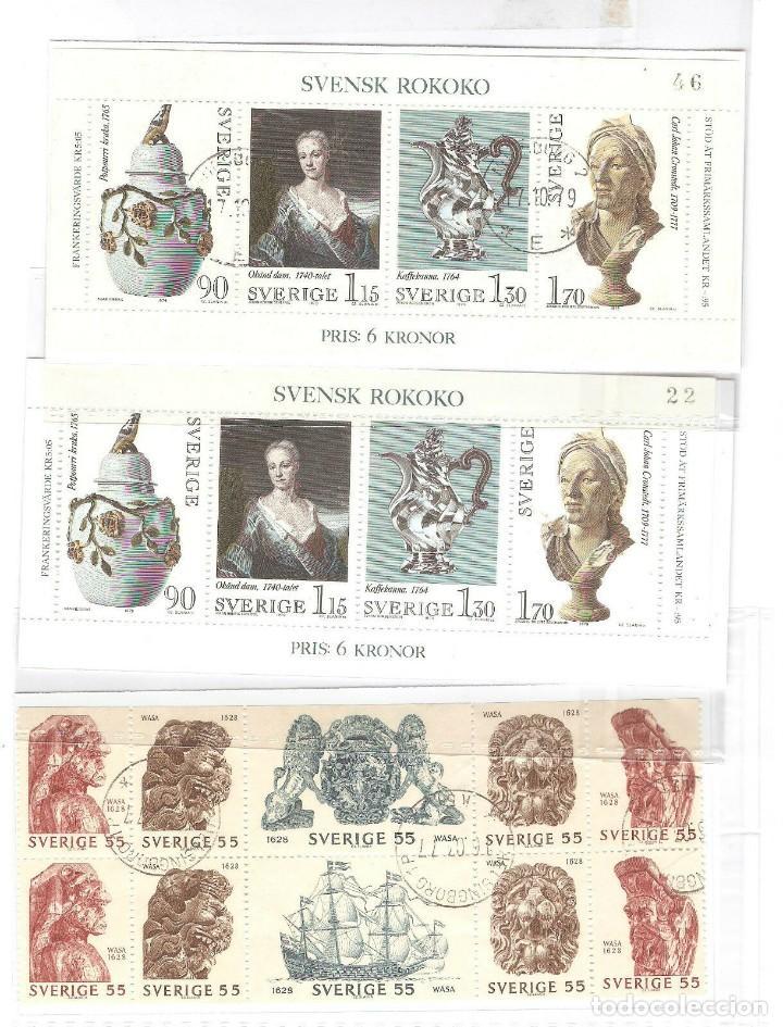 LOTE SUECIA,YT BF 7 (2), YT 625/629(1),SIN GOMA ORIGINAL,SIN FIJASELLOS. (Sellos - Extranjero - Europa - Suecia)