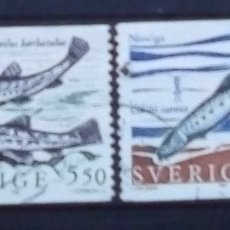Sellos: SUECIA PECES SERIE DE SELLOS USADOS. Lote 191158835