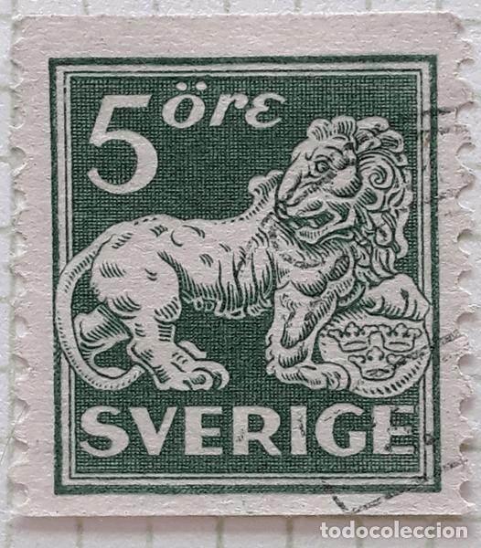 SUECIA YT :SE123 5 ORE (Sellos - Extranjero - Europa - Suecia)