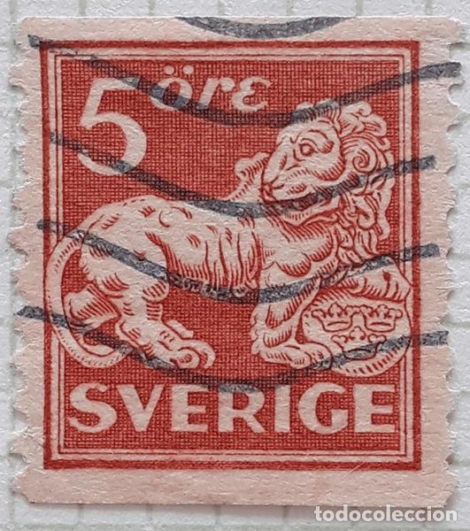 SUECIA YT :124 5ORE MARRON (Sellos - Extranjero - Europa - Suecia)