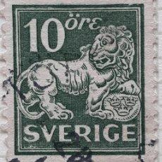 Sellos: SUECIA YT :126 10 ORE (VERDE). Lote 194664710