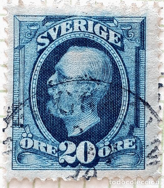 SUECIA YT :SE 45 REY OSCAR LL 1891 (20 ORE ) (Sellos - Extranjero - Europa - Suecia)