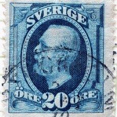 Sellos: SUECIA YT :SE 45 REY OSCAR LL 1891 (20 ORE ). Lote 194669085