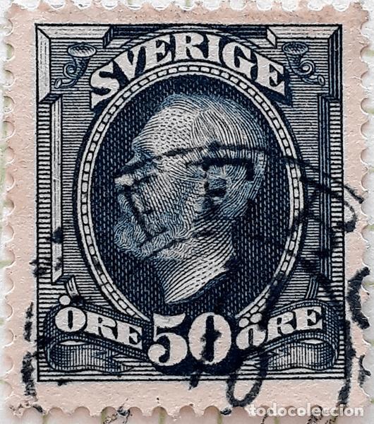 SUECIA YT :SE 48 REY OSCAR LL 1891 (50 ORE ) (Sellos - Extranjero - Europa - Suecia)