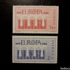 Sellos: SUECIA. YVERT 1252/3 SERIE COMPLETA NUEVA ***. EUROPA CEPT. PUENTES.. Lote 194958981