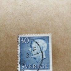 Selos: SUECIA - VALOR FACIAL 30 - REY GUSTAVO ADOLFO VI - YV 422. Lote 195493377