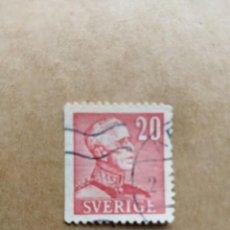 Selos: SUECIA - VALOR FACIAL 20 - EFIGIE DEL REY - YV 261 A. Lote 195493931