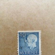 Sellos: SUECIA - VALOR FACIAL 40 - REY GUSTAVO ADOLFO VI - YV 470. Lote 195494655
