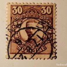 Sellos: SUECIA 1911 - 1919 REY GUSTAVO V 30 ÖRE. Lote 195874107