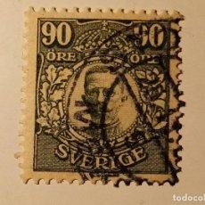 Sellos: SUECIA 1911 - 1919 REY GUSTAVO V 90 ÖRE. Lote 195877547