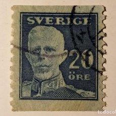 Sellos: SUECIA 1920 REY GUSTAVO V 20 ÖRE. Lote 195878485