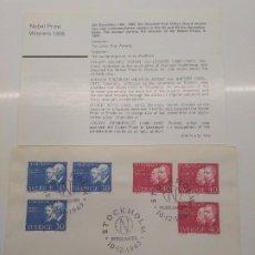 Sellos: STOCKHOLM NOBELDAGEN 10-12 -1965 NOBEL 1905 LENARD BAEYER KOCH SIENKIEWICZ FISICO QUIMICO MEDICO. Lote 198663423