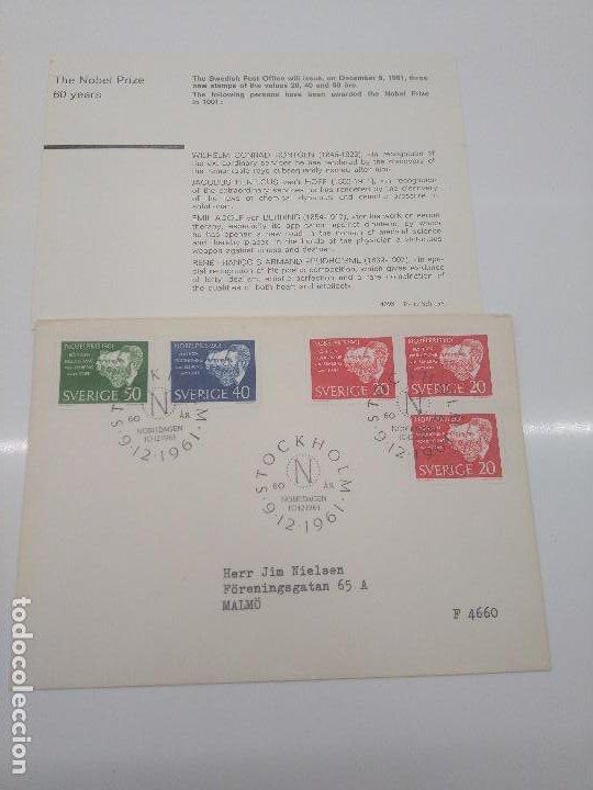 STOCKHOLM NOBELDAGEN 10-12 -1961 NOBEL 1901 RONTGEN VAN HOFF BEHRING PRUDHOME FISICO QUIMICO MEDICO (Sellos - Extranjero - Europa - Suecia)