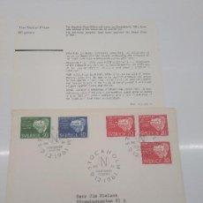 Sellos: STOCKHOLM NOBELDAGEN 10-12 -1961 NOBEL 1901 RONTGEN VAN HOFF BEHRING PRUDHOME FISICO QUIMICO MEDICO. Lote 198663743