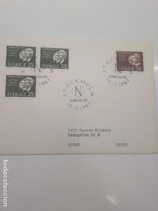 STOCKHOLM NOBELDAGEN 1963 NOBEL 1903 ARRENIUS FINSEN BJORNSON BECQUEREL P Y M CURIE (Sellos - Extranjero - Europa - Suecia)