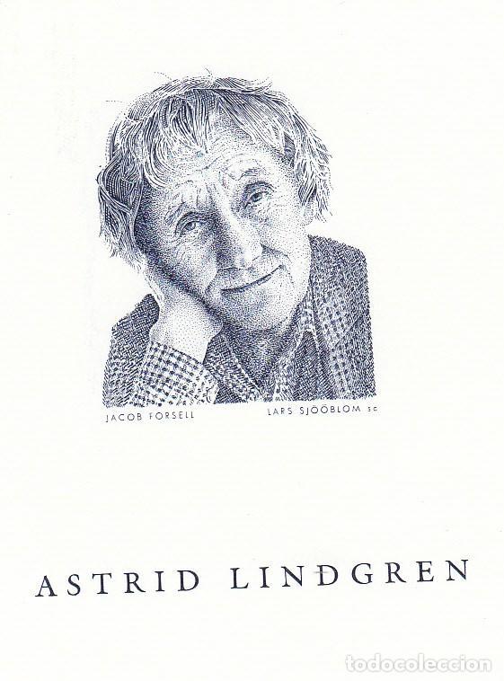 SUECIA 2001 PRUEBA DE LUJO EN HOMENAJE DE ASTRID LINDGREN -GRABADOR LARS SJOOBLOM (Sellos - Extranjero - Europa - Suecia)