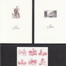 Sellos: SUECIA 3 PRUEBAS DE LUJO 1997-1998-2000 GRABADOR C. SLANIA . Lote 201524151