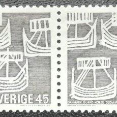 Sellos: 1969. SUECIA. 611. CENTENARIO DE LA COMUNIDAD NÓRDICA. SELLOS EN PAREJA. NUEVO.. Lote 202780441