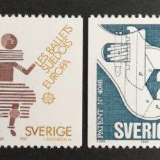 Sellos: SUECIA, EUROPA CEPT 1983 MNG, GRANDES OBRAS DE LA HUMANIDAD (FOTOGRAFÍA REAL). Lote 204006352