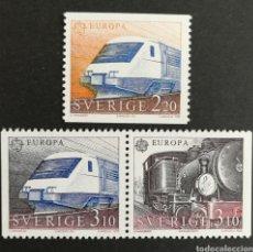 Sellos: SUECIA, EUROPA CEPT 1988 MNG, TRANSPORTES Y COMUNICACIONES (FOTOGRAFÍA REAL). Lote 204056876