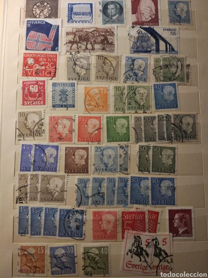 Sellos: Album de sellos de suecia, diversos años desde 1870 a 1990 - Foto 5 - 207849875