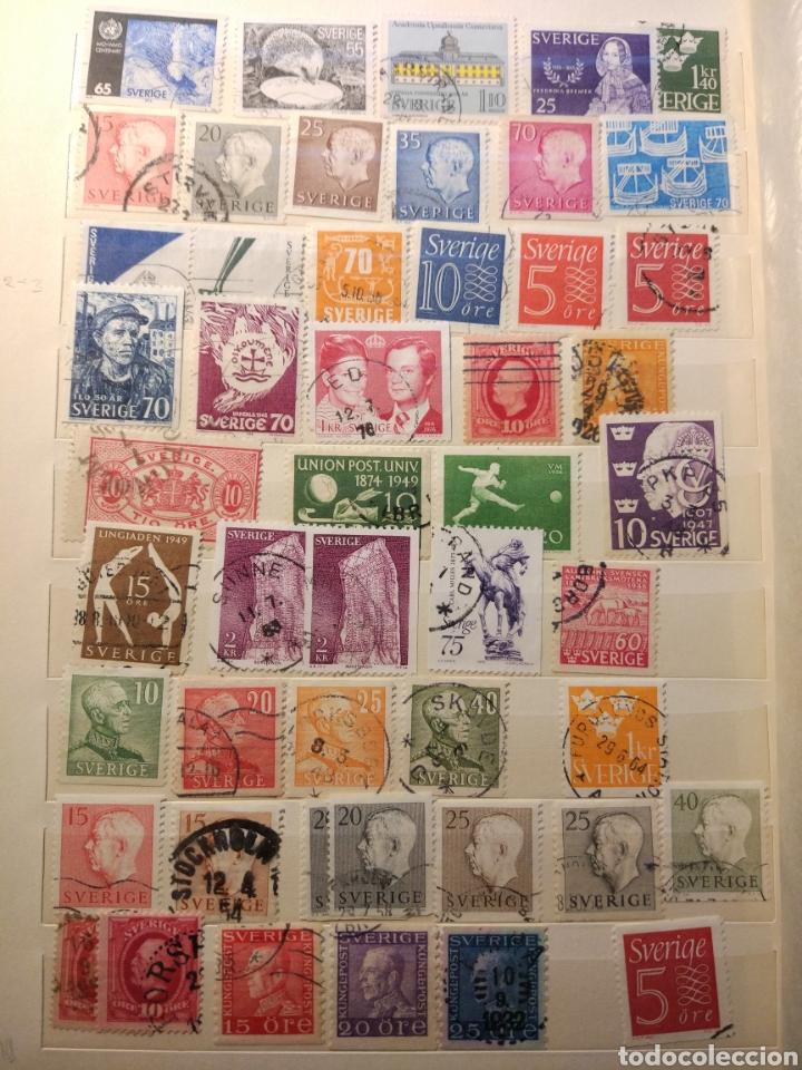 Sellos: Album de sellos de suecia, diversos años desde 1870 a 1990 - Foto 10 - 207849875