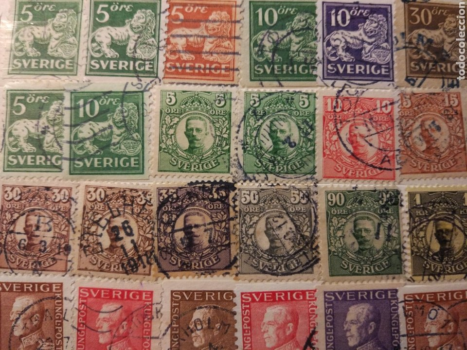 Sellos: Album de sellos de suecia, diversos años desde 1870 a 1990 - Foto 19 - 207849875